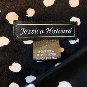 Jessica Howard Dresses - Jessica Howard Bell Sleeves Textured Dot Dress